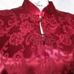 Mandarin Collar Sheath Dress by Harlow Dresses